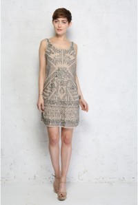 Aztec Beaded Flapper Dress
