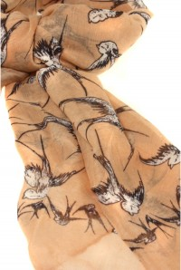 Swallow Scarf - Peach