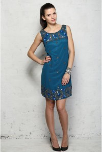Blue Embellished Flapper Dress