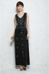 Art Deco Maxi Dress