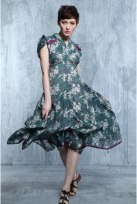 Eucalyptus Georgia Floral Dress