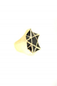 Gold And Black Deco Ring