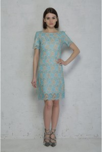 Blue Lace Flapper Dress