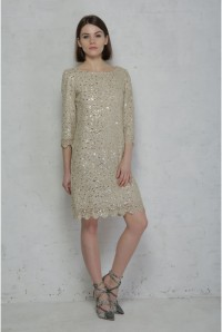 Gold Lace Flapper Dress