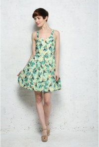 Sugarhill Boutique Toucan Tropical Print Sun Dress