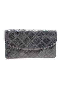 Vintage Black Patchwork Clutch