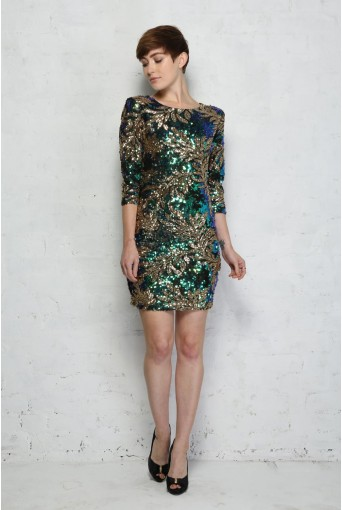 Sequinned Cocktail Dress
