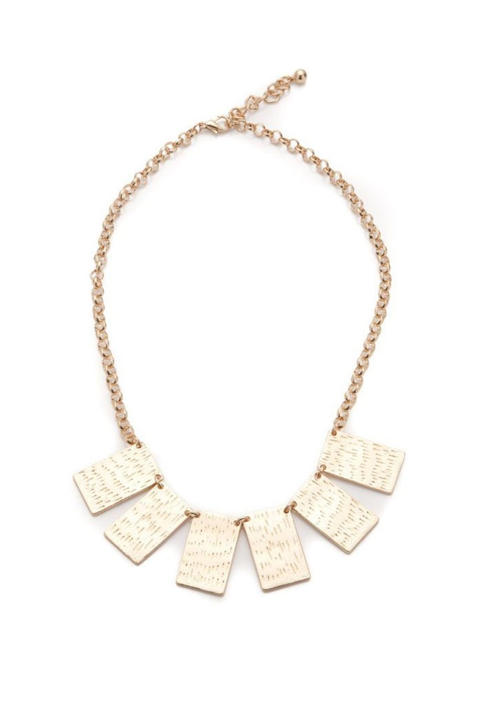 Gold Square Necklace
