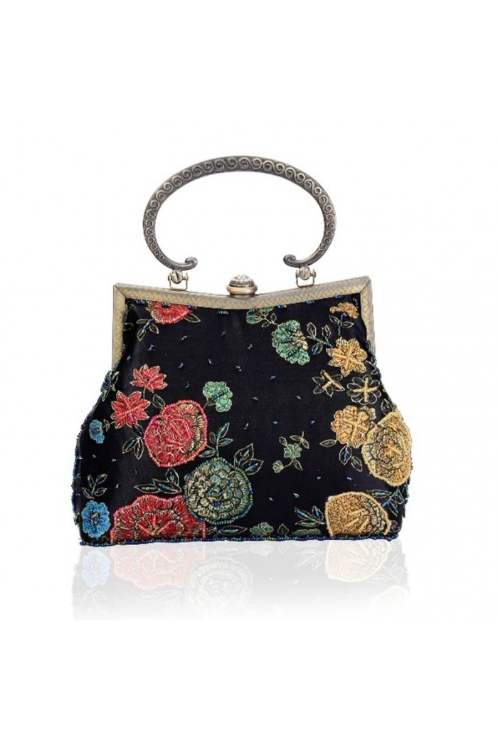 Black Tapestry Handbag