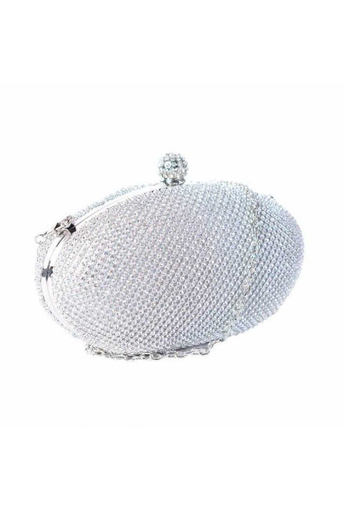 1950s Silver Evening Clutch
