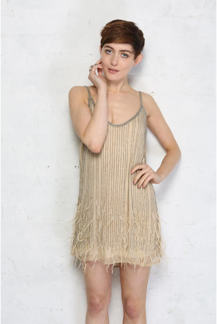 Feather Flapper Dress