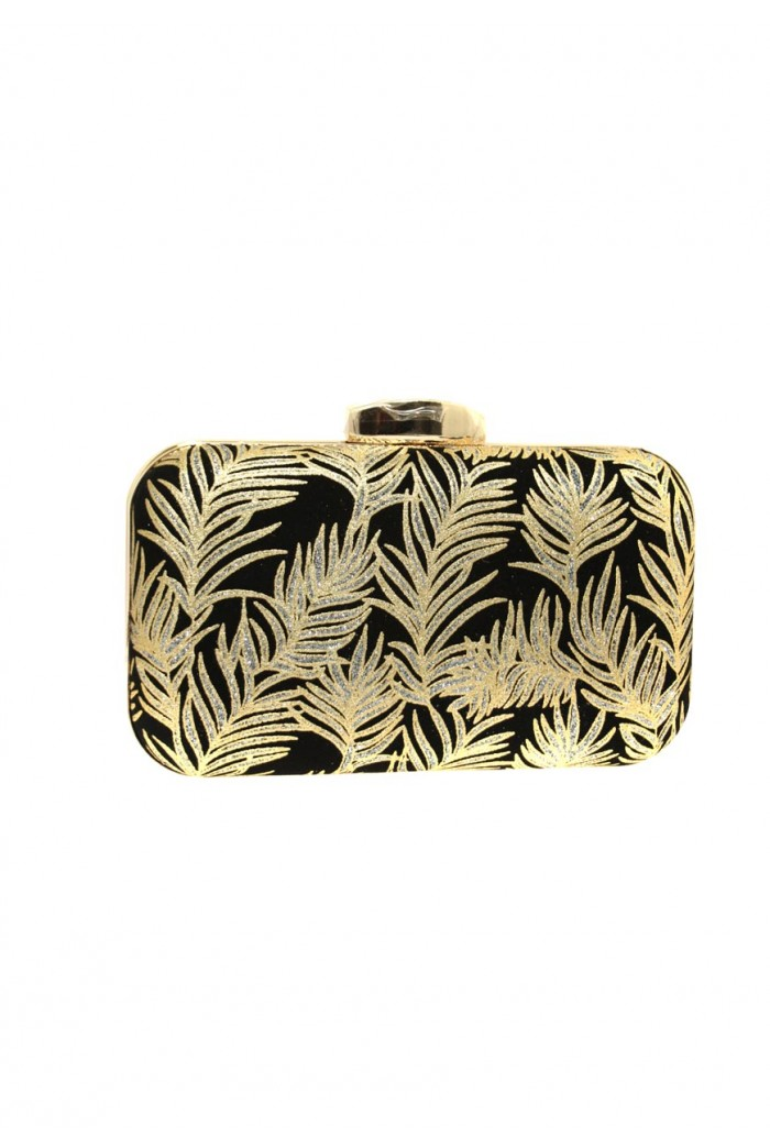 Gold Leaf Clutch