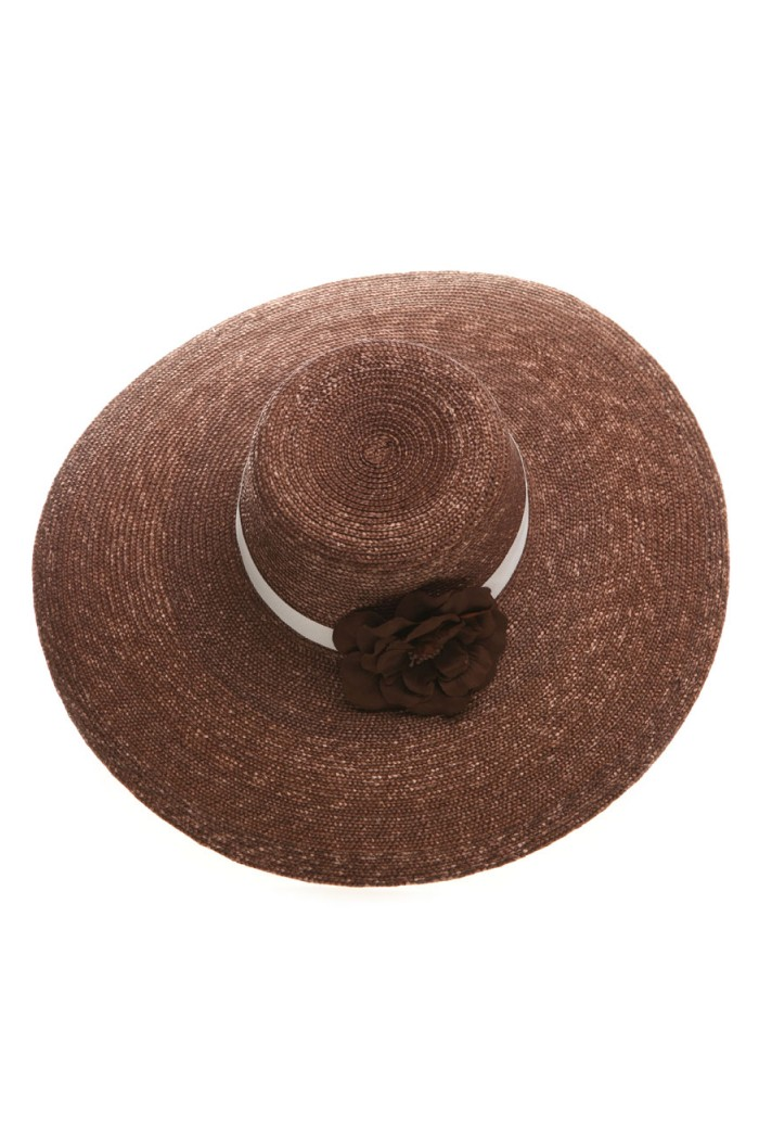 1970s Style Brown Straw Hat