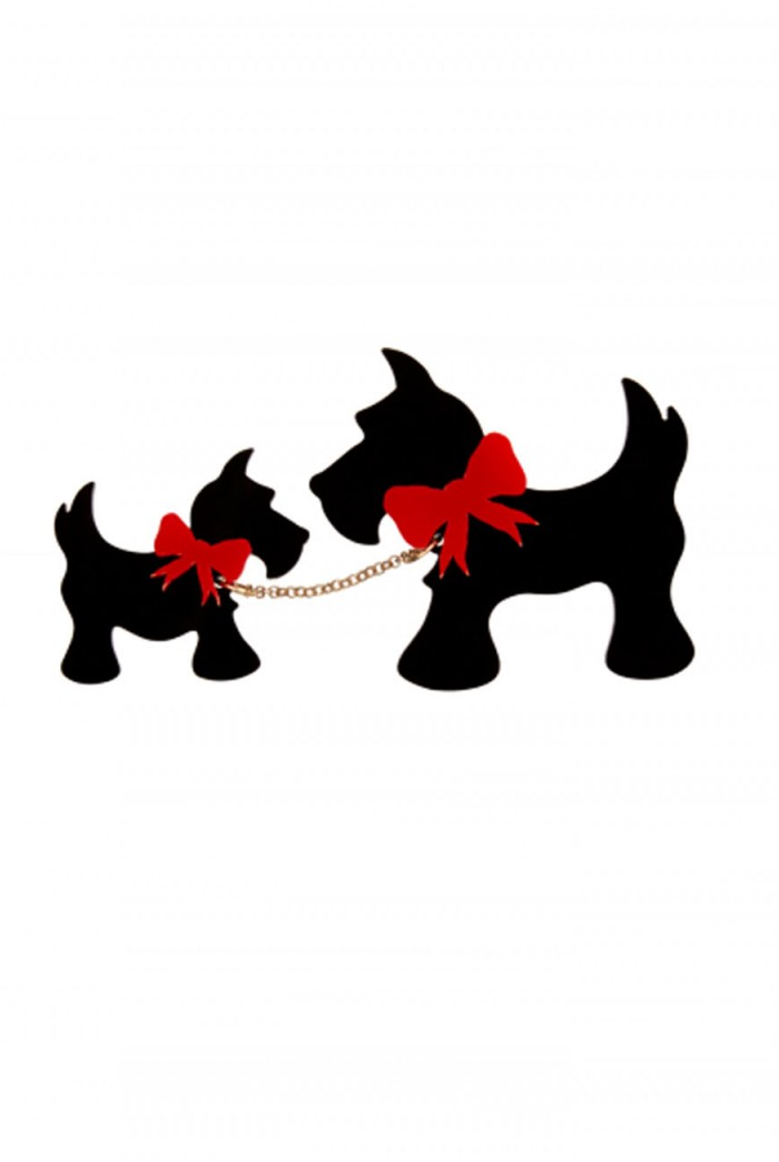 Tatty Devine Scotty Dog Brooch