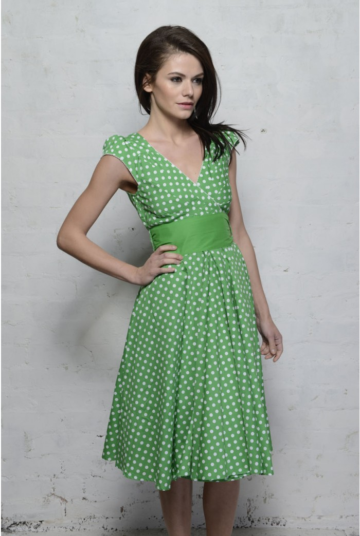 Eucalyptus Regina Polka Dot Dress