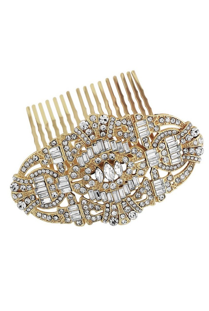 Gold Gatsby Hair Comb