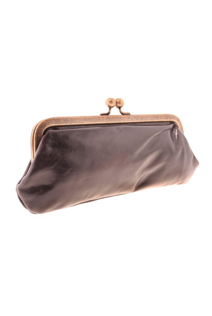 Black Leather Vintage Purse