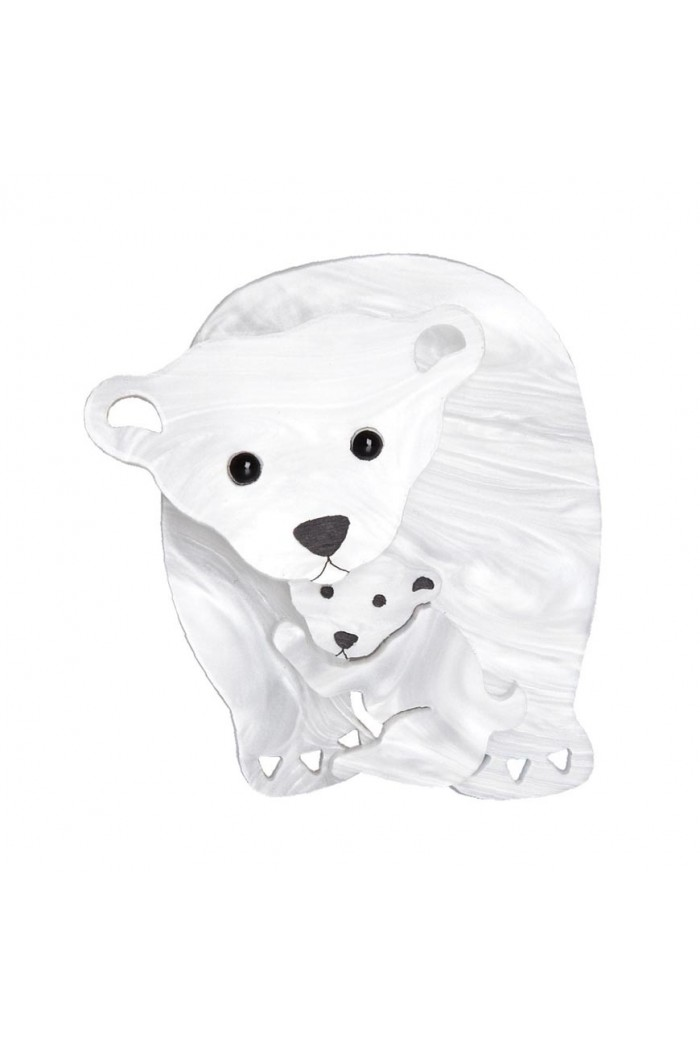 Tatty Devine Polar Bear Brooch