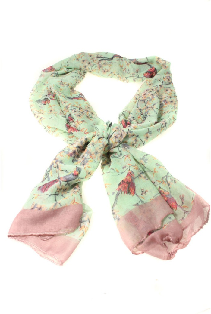 Summer Birds Scarf