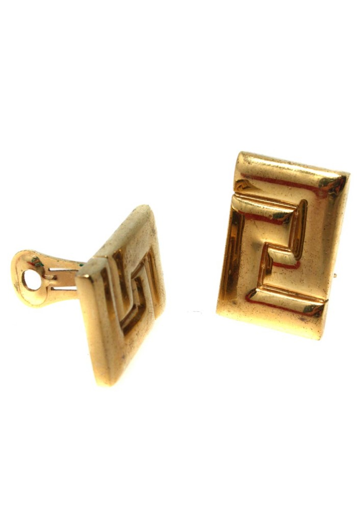 Vintage Gold Geometric Earrings