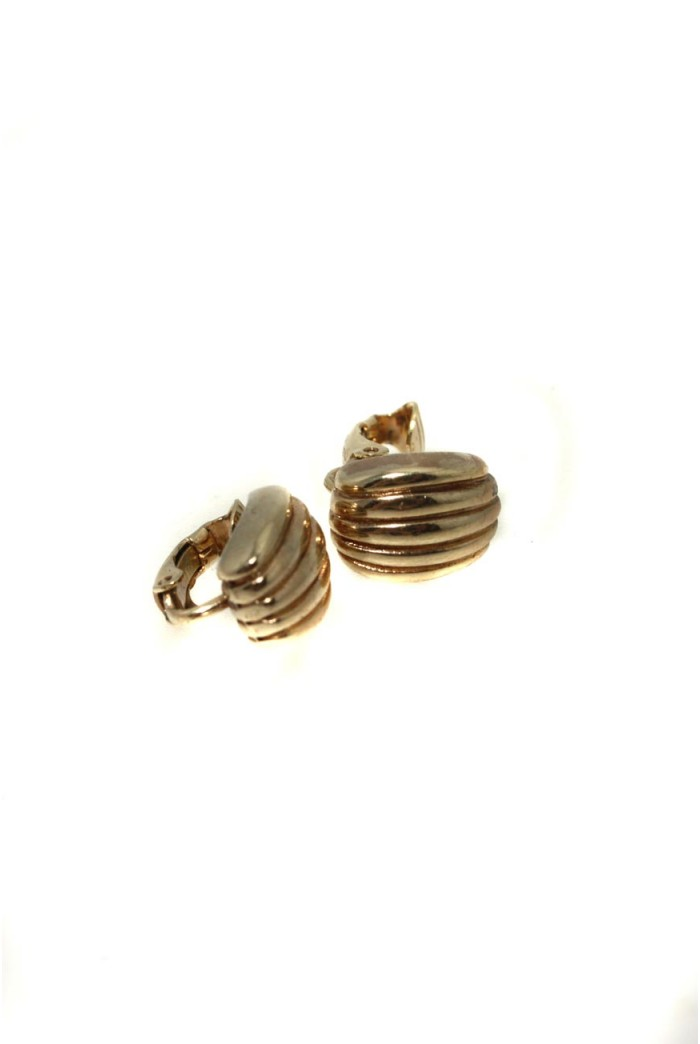 Vintage Christian Dior Gold Earrings