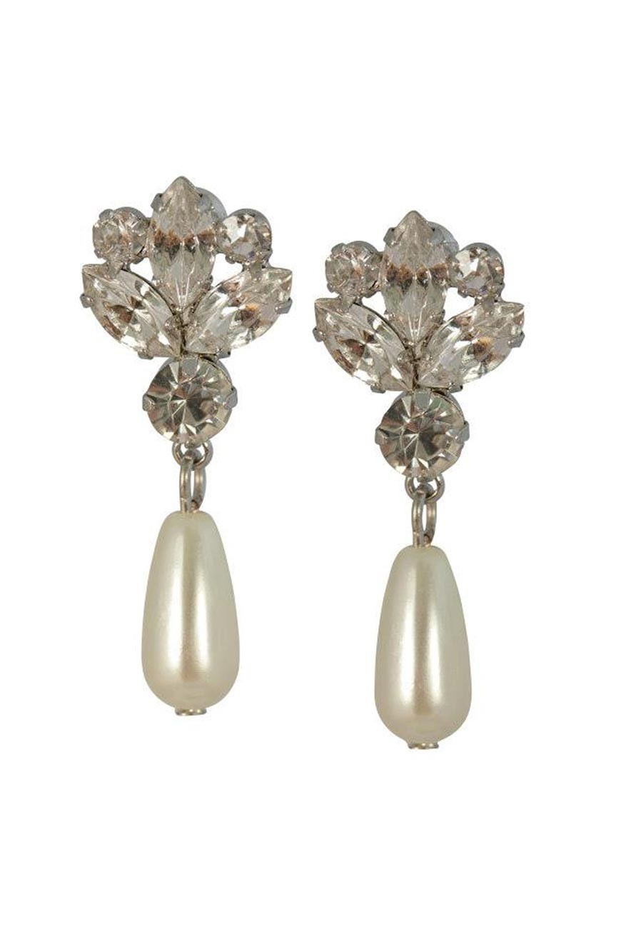 Pearl Drop Earrings Vintage Chandelier Earrings 1950s