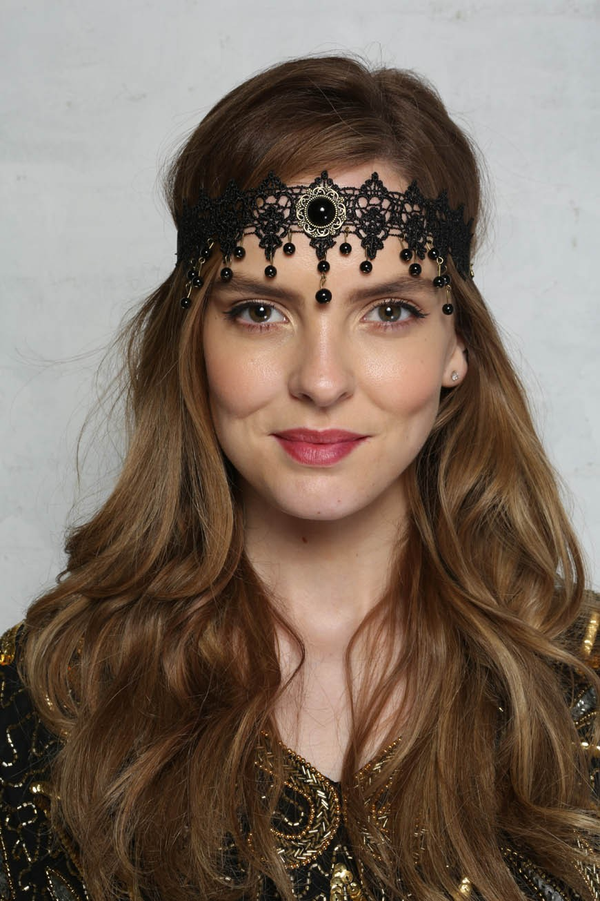 Lace Beaded Headband