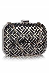 Black Deco Clutch