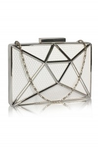 Ivory And Silver Deco Clutch