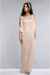 Blush Sequinned 1920s Maxi