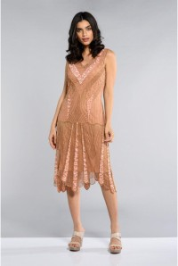 1920s Rose Gold Dress