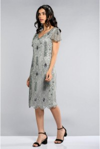Silver Gatsby Flapper Dress