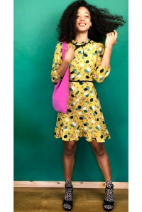 Yellow Collar Tea Dress