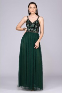Emerald Green Beaded Maxi