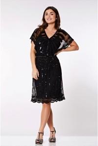 Scalloped Sleeve Flapper Dress