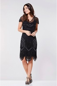 Black Fringed Deco Dress