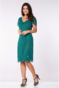 Green Gatsby Flapper Dress