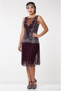 Red 1920s Flapper Dress