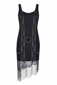 Silver And Black 1920s Dress