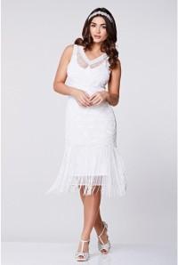 White 1920s Flapper Dress