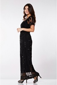 Black Batwing Maxi Dress