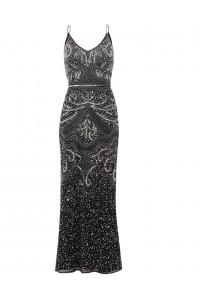 Black 1920s Maxi Dress