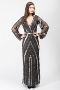 Silver Deco Maxi Dress