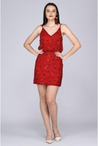 Red Sequin Flapper