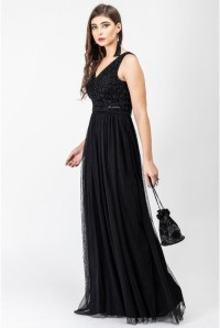 Black Tuille Maxi Dress