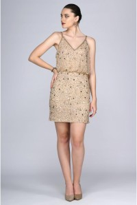 Gold Sequinned Flapper Dress