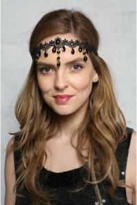 Lace Teardrop Headband