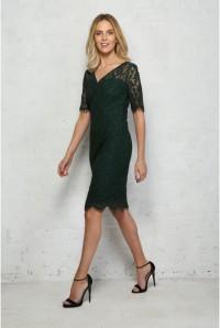 Green Lace Wiggle Dress