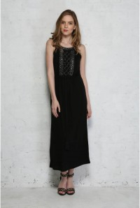 French Connection Goldie Stone Embellished Maxi Dress