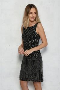 Black Fringed Flapper Dress